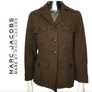 Marc by Marc Jacobs Utility Jacket Brown Stripe